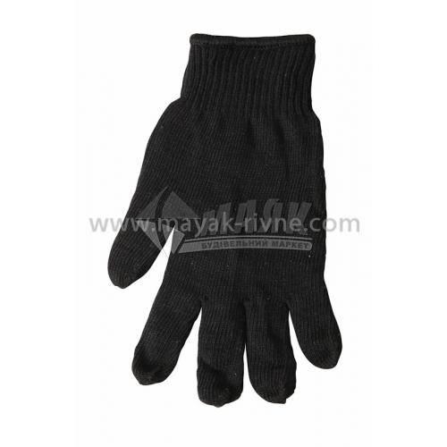 Рукавиці трикотажні робочі Лоція-91 №019 XL (10) подвійні зимові чорні
