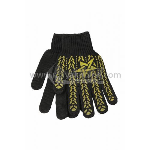 Рукавиці трикотажні робочі Doloni №562 XL (10) покриття ПВХ зірка чорні