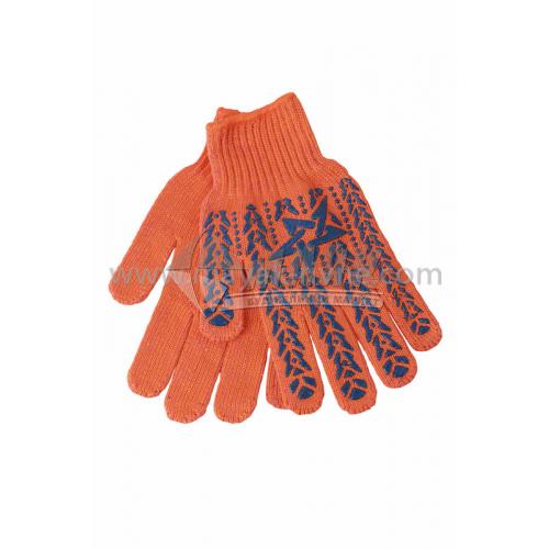 Рукавиці трикотажні робочі Doloni №564 XL (10) покриття ПВХ зірка оранжеві