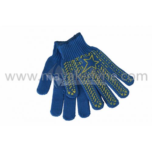 Рукавиці трикотажні робочі Doloni №587 XL (10) покриття ПВХ зірка сині