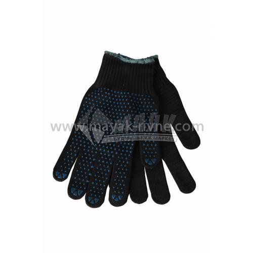 Рукавиці трикотажні робочі Лоція-91 №014 XL (10) покриття ПВХ крапка чорні