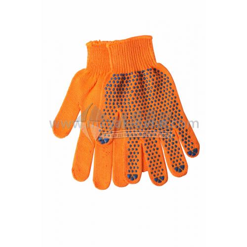 Рукавиці трикотажні робочі Лоція-91 №010 XL (10) покриття ПВХ крапка помаранчеві