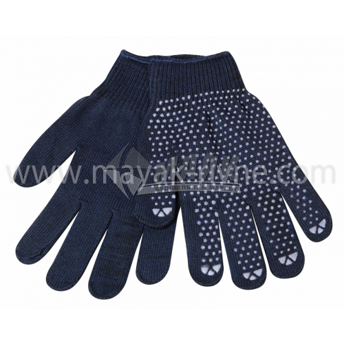 Рукавиці трикотажні робочі Лоція-91 №007 XL (10) покриття ПВХ крапка темно-сині
