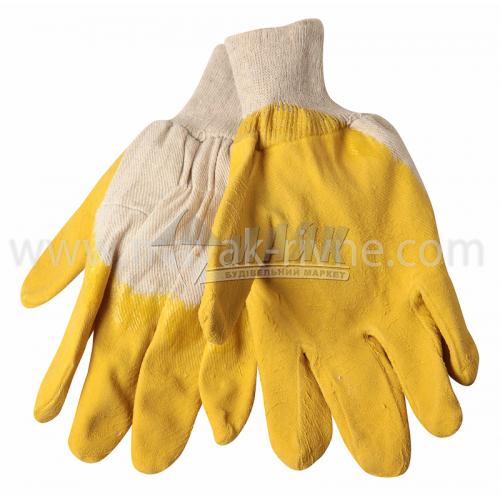 Рукавиці трикотажні робочі Жовті покриття латексне