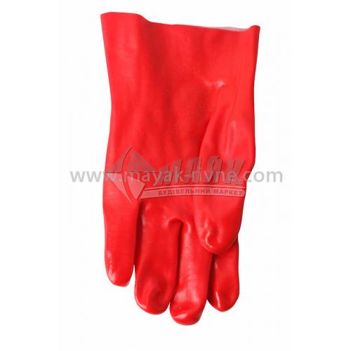Рукавиці гумові робочі Vist маслостійкі 27 см червоні
