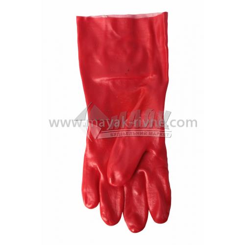 Рукавиці гумові робочі Vist маслостійкі 35 см червоні