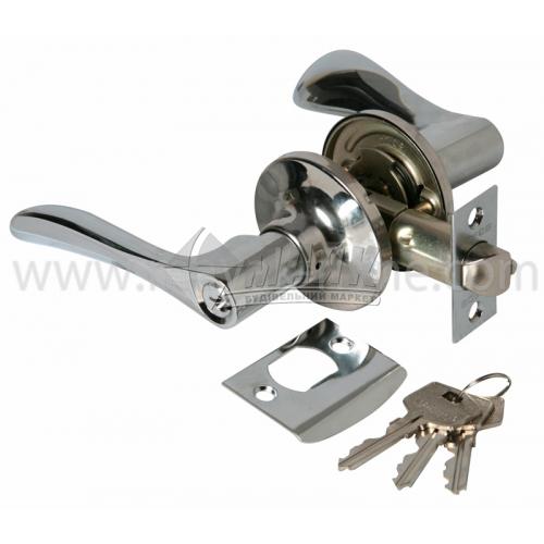 Ручка-замок (кнобсет) дверний Apecs 0891-01-CR хром
