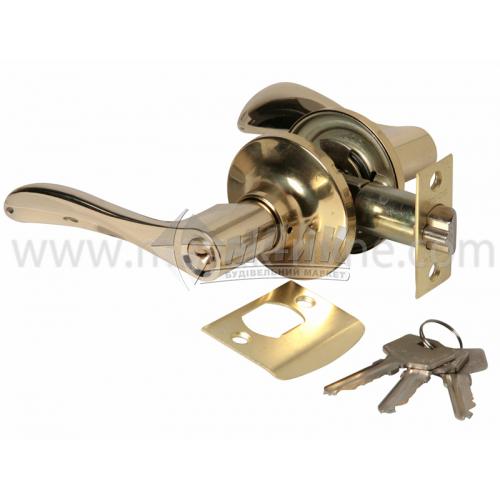 Ручка-замок (кнобсет) дверний Apecs 0891-01-G золото