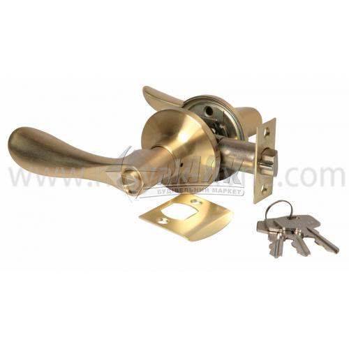 Ручка-замок (кнобсет) дверний Apecs 0891-01-GM золото матове