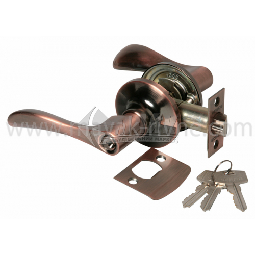 Ручка-замок (кнобсет) дверний Apecs 0891-01-АС мідь