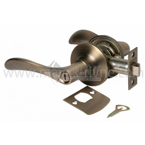 Ручка-замок (кнобсет) дверний Apecs 0891-03-AN антік