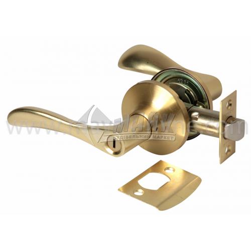 Ручка-замок (кнобсет) дверний Apecs 0891-03-GM золото матове