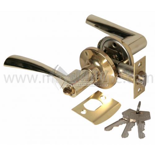 Ручка-замок (кнобсет) дверний Apecs 8023-01-G золото