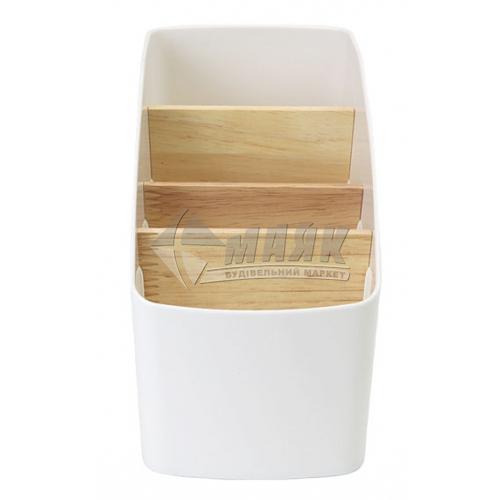 Органайзер для дрібниць MVM FH-01 91×180×127 мм білий/дерево