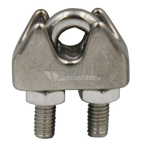 Затискач для троса дуговий 4 мм нержавіюча сталь