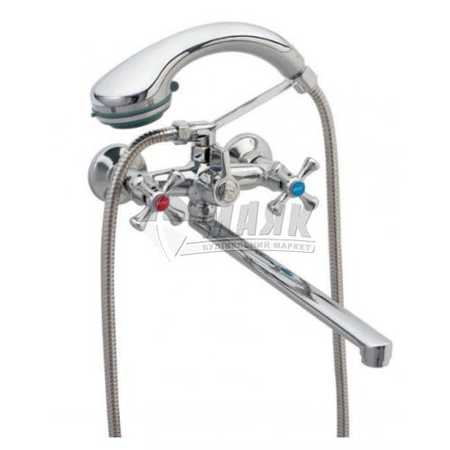Змішувач для ванни ZERIX 2Р DML 827 з душовим комплектом двовентильний настінний