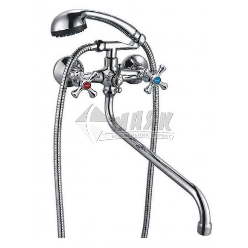 Змішувач для ванни ZERIX 2Р DFR-A 827 з душовим комплектом двовентильний настінний