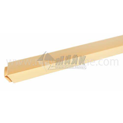Профіль монтажний ПВХ кут зовнішній 3 пог.м 8 мм світло-коричневий