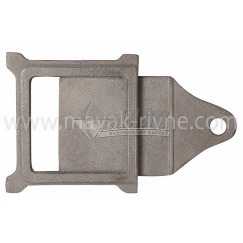 Шибер (заслонка) чавунний Булат ШЧ-4 270×180×190 мм 2,0 кг