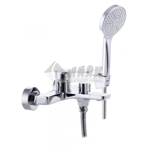 Змішувач для ванни MIXXUS PREMIUM ALBERT 1Р 009 з душовим комплектом одноважільний настінний короткий гусак