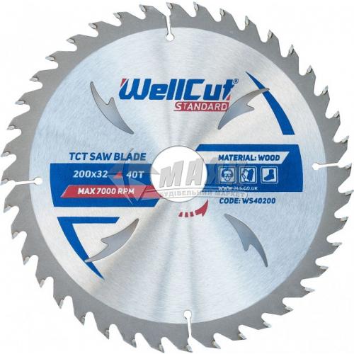 Диск пиляльний WellCut Standard 200×32 мм 40Т