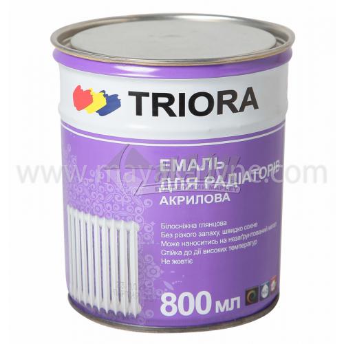 Емаль для радіаторів TRIORA акрилова 0,75 л білосніжна глянцева
