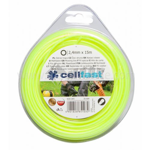 Жилка для газонокосарки Cellfast 2,4 мм × 15 м кругла