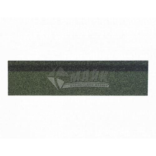 Коник-звіс ТЕХНОНІКОЛЬ для бітумної черепиці 250×1000 мм 5 кв.м зелений