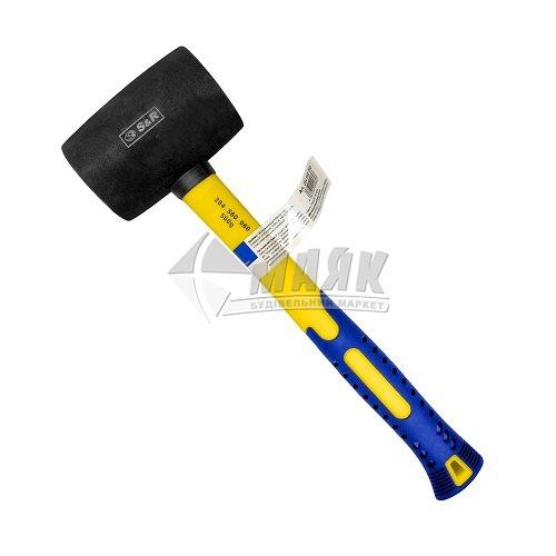 Киянка гумова S&R 65 мм 680 г круглий бойок фібергласова ручка чорна