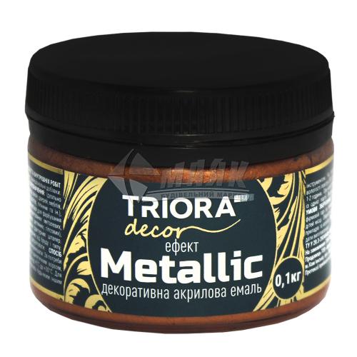 Фарба декоративна TRIORA Metallic 0,1 кг 924 мідь