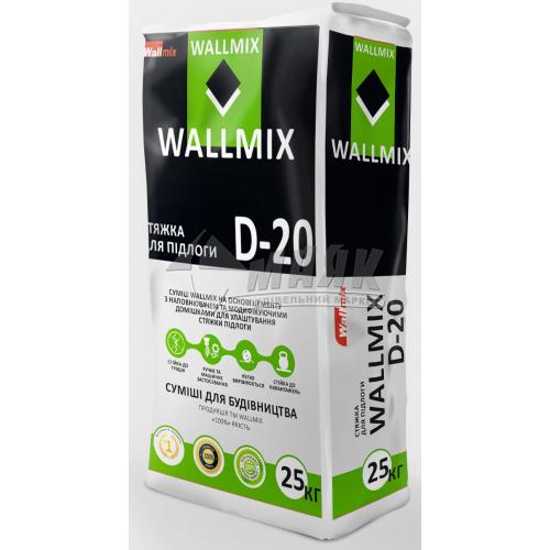 Суміш для стяжки Wallmix D-20 шар 10-40 мм 25 кг