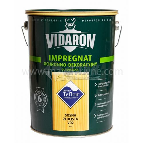 Захист для деревини Vidaron Impregnat 4в1 V02 9 л золота сосна