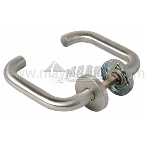 Ручки дверні на розетці Apecs H-0203-Inox нержавіюча сталь