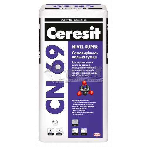 Самовирівнювальна підлога Ceresit CN 69 шар 1-15 мм 25 кг