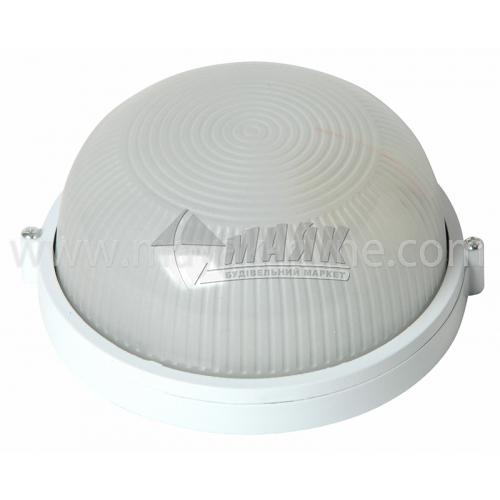 Світильник настінно-стельовий Lumen/Екострум 1001 60Вт IP54 Е27 скляний круглий без решітки білий