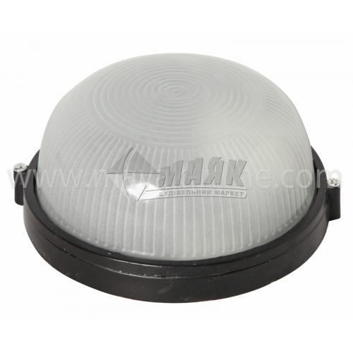 Світильник настінно-стельовий Lumen/Екострум МС 1002 60Вт IP54 Е27 скляний круглий без решітки чорний
