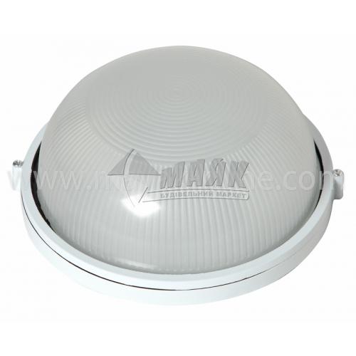 Світильник настінно-стельовий Lumen/Екострум SL-1201 100Вт IP54 Е27 скляний круглий без решітки білий