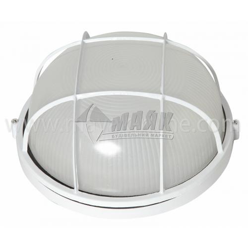 Світильник настінно-стельовий Lumen/Екострум 1251 100Вт IP54 Е27 скляний круглий з решіткою білий