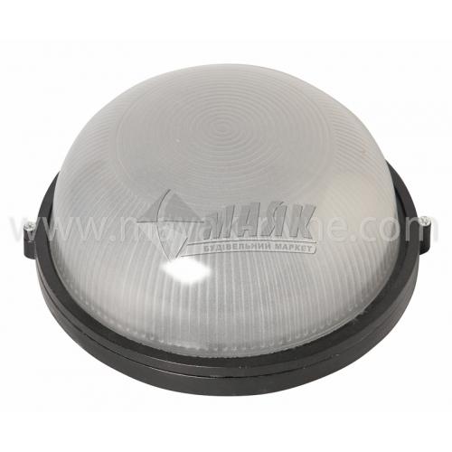 Світильник настінно-стельовий Lumen/Екострум SL-1202 100Вт IP54 Е27 скляний круглий без решітки чорний