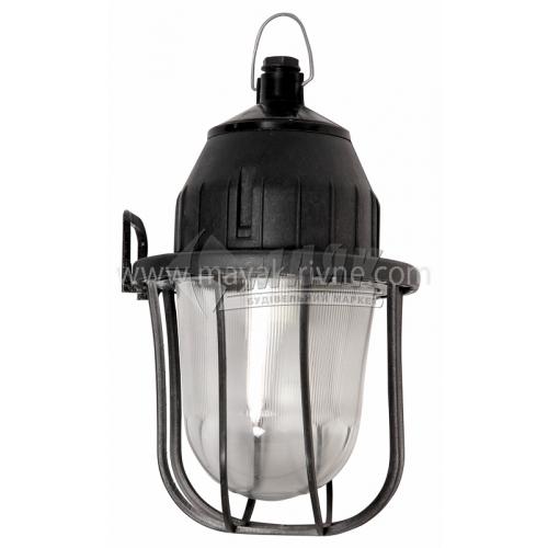 Світильник підвісний НСП 21У-100-414 100Вт IP54 Е27 скляний овальний з решіткою чорний