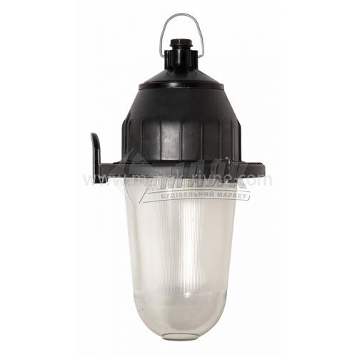 Світильник підвісний НСП 21У-200-314 200Вт IP54 Е27 скляний овальний без решітки чорний