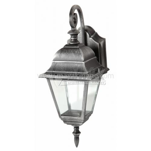 Світильник вуличний Lusterlicht Wimbledon I 1117S 100Вт настінний срібло