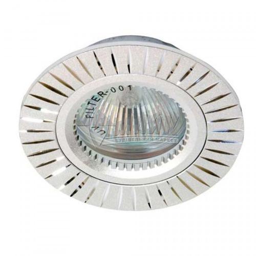 Світильник точковий вбудований Feron Versace GS-M394 МR16 GU5.3/G5.3 срібло