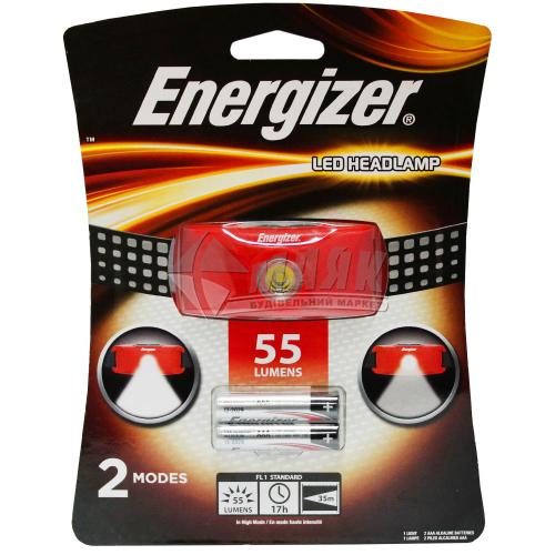 Ліхтар налобний на батарейках ENERGIZER LED Headlight 2AAA tray HDCV22