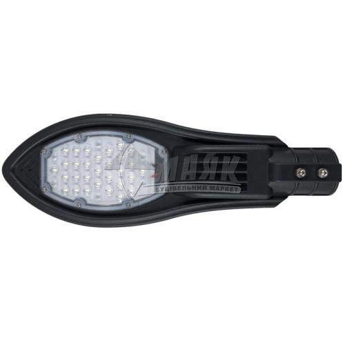 Світильник світлодіодний вуличний Luxel LXSLE-30C 30Вт 6500°К IP65 чорний