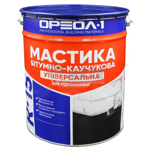 Мастика гідроізоляційна бітумно-каучукова Ореол-1 R-15 Універсальна 10 кг