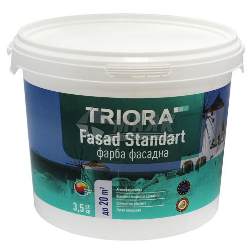 Фарба фасадна TRIORA Fasad Standart акрилова 3,5 кг біла матова