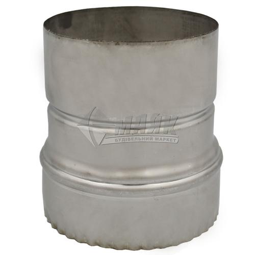 Перехід димоходу редукційний ВЕНТ УСТРІЙ 0,5×120×110 мм нержавіюча сталь/нержавіюча сталь 201