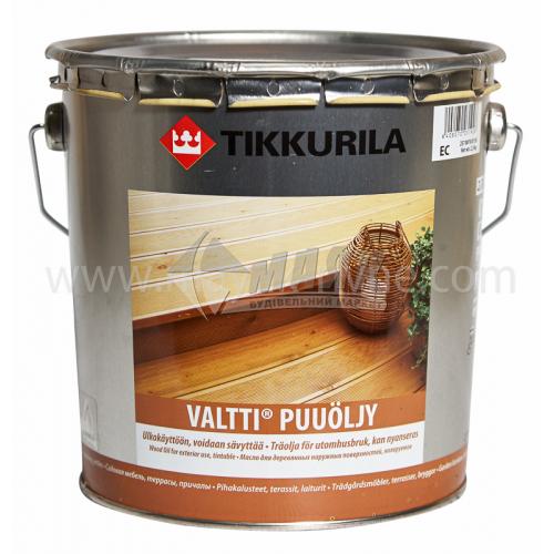 Олія для деревини Tikkurila Valtti Puuoljy для зовнішніх робіт 2,7 л безбарвна