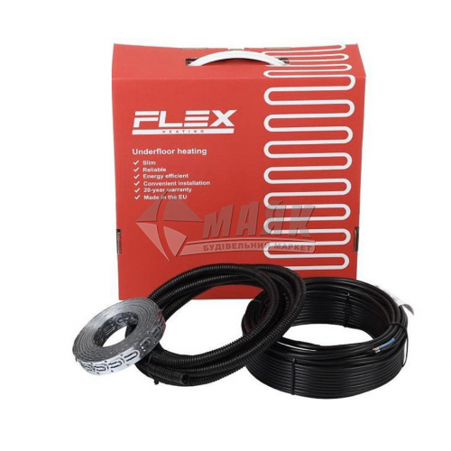Секція для теплої підлоги двожильна FLEX Heating EHC-17,5/10 0,0175кВт 1-1,2 кв.м